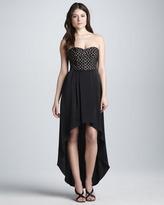 BCBGMAXAZRIA Strapless High-Low Dress