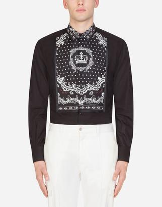 Dolce & Gabbana Gold Tuxedo Shirt
