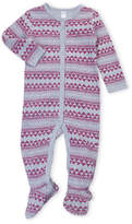 Petit Lem Newborn/Infant Girls) Fair Isle Thermal Footie