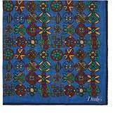 Drakes Drake's Men's Folkloric-Print Wool-Silk Gauze Pocket Square