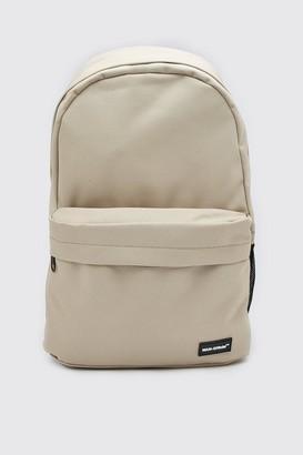boohoo Mens Beige MAN Official Basic Backpack, Beige