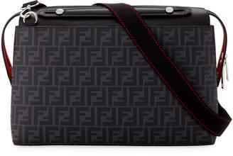 Fendi Men's FF Logo Briefcase with Leather Trim