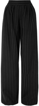 Gareth Pugh Pinstriped Wool-blend Wide-leg Pants