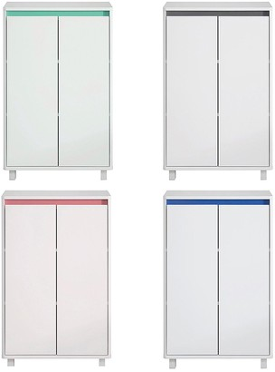 Lloyd Pascal Olinda Double Console Bathroom Cabinet With Reversible 4 In 1 Colour Bar