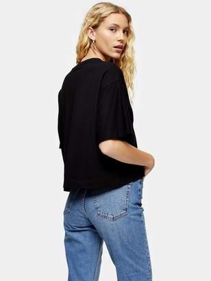 Topshop Panel Boxy T- Shirt - Black