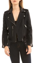 Bagatelle Women's Washed Leather Biker Jacket