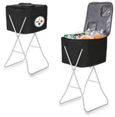 Picnic Time Party Cube - Pittsburgh Steelers Digital Print - Black