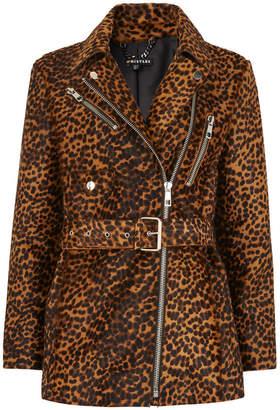 Whistles Leopard Leather Biker