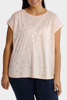 All Over Metallic Flower Print Tee