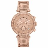 Michael Kors Women's MK5663 Rose- Stainless-Steel Quartz Watch with Rose- Dial