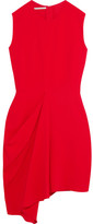 Stella McCartney Draped Stretch-crepe Mini Dress - Red