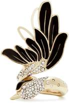Lanvin Crystal-embellished swan ring