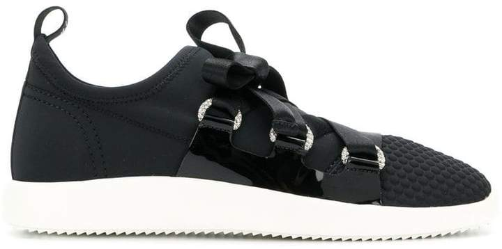 Giuseppe Zanotti Design slip-on ribbon tie sneakers