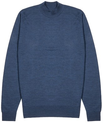 John Smedley Harcourt navy wool jumper