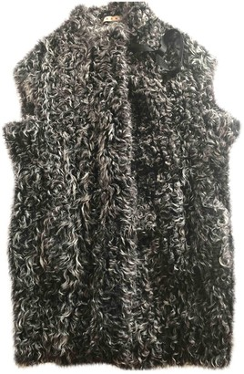 Marni Anthracite Fur Coat for Women