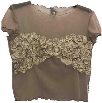 Armani Jeans Beige Lace Top for Women