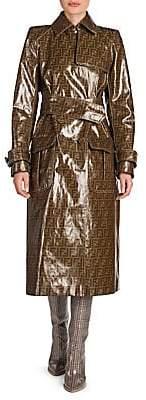 Fendi Women's Glazed Logo Trench Coat