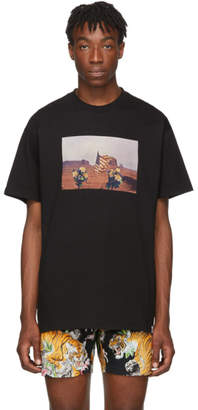 Carhartt Work In Progress Black Matt Martin Flags T-Shirt