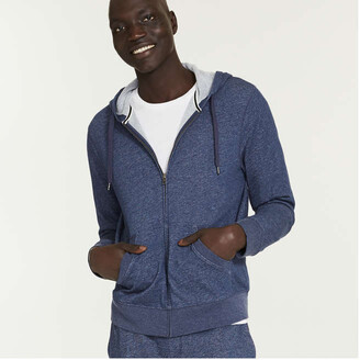Joe Fresh Men's Mix Knit Essential Active Hoodie, Indigo (Size XS)