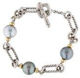David Yurman Two-Tone Pearl Link Bracelet