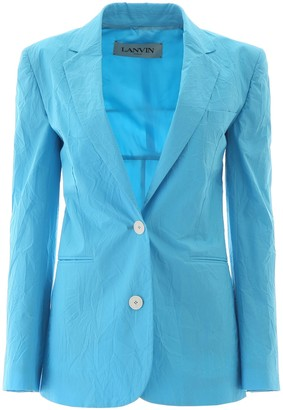 Lanvin Tailored Pleated Effect Jacket
