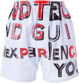 Maison Margiela slogan print shorts