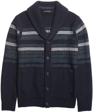 Banana Republic Fair Isle Cardigan Sweater