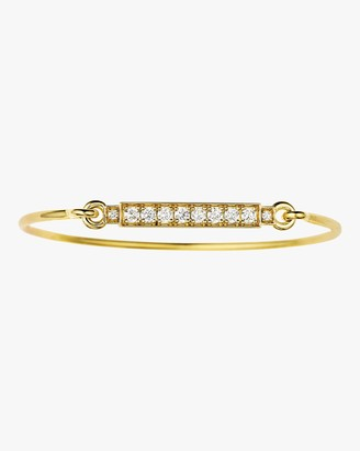 Jemma Wynne Diamond Bar Closed Bangle Bracelet