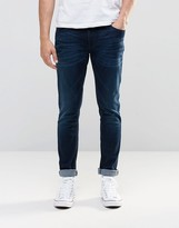 Nudie Jeans Skinny Lin Super Skinny Fit Navy Stitch Dark