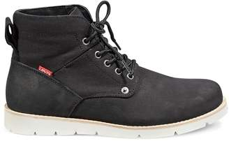 Levi's Lace-Up Leather Canvas Boots