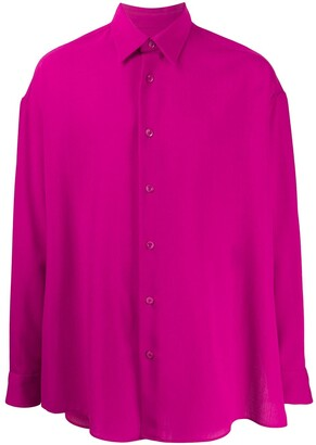 Ami Oversized Side Slits Shirt