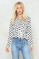 Nasty Gal nastygal Whether You Like It or Dot Blouse
