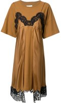 Maison Margiela lace slip layered T-shirt dress - women - Silk/Cotton - 40