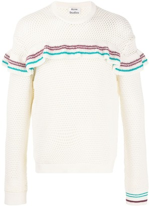 Acne Studios Ruffle Detail Knitted Jumper