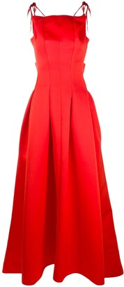 Maison Rabih Kayrouz Pleated Long Gown
