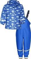 Playshoes Boy's Waterproof Rainsuit Sharks Raincoat,(Manufacturer Size:98)