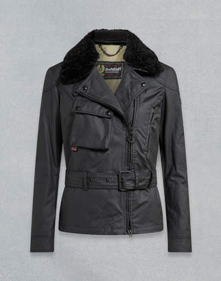 Belstaff SAMMY MILLER WAXED JACKET WITH SHEARLING