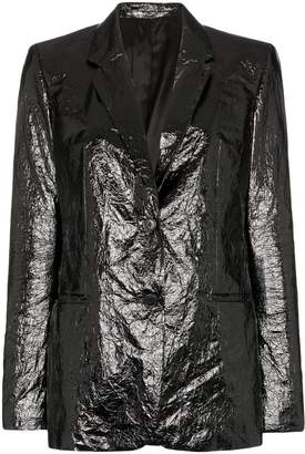 Helmut Lang single-breasted crinkled blazer