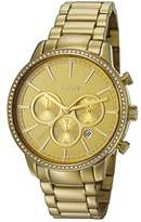 JOOP! Joop Jackie Women's Quartz Watch with Gold Dial Chronograph Display and Gold Stainless Steel Bracelet JP101712004