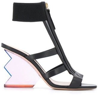 Nicholas Kirkwood Aurora abstract heel sandals