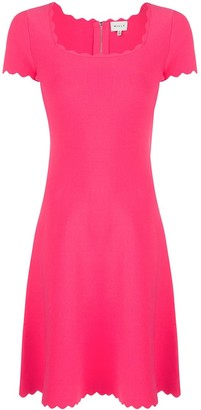 Milly scallop neck dress