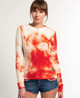 Superdry Tie Dye Cable Crew Sweater