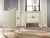 The Well Appointed House Modern History Retro Nightstand in Cream with Gold Accents