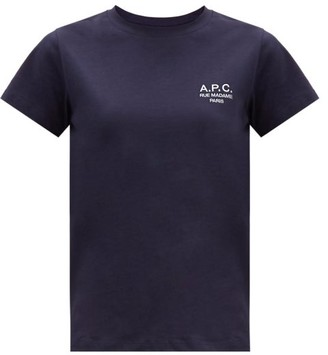 A.P.C. Denise Logo-embroidered Cotton-jersey T-shirt - Navy
