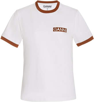 Ganni Basic Cotton Jersey Top