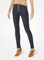 Michael Kors Button-Front Skinny Jeans