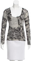 Christian Dior Wool & Cashmere-Blend Printed Top