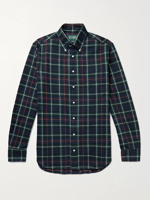 Gitman Brothers Slim-Fit Button-Down Collar Checked Cotton-Flannel Shirt