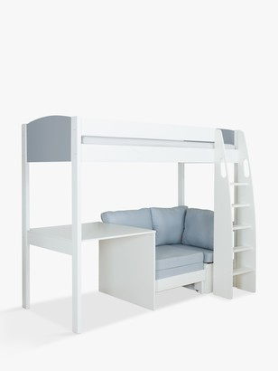 Stompa Uno S Plus High-Sleeper Bed with Fixed Desk and Chair Bed