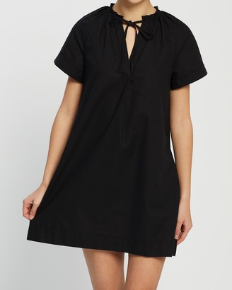 Atmos & Here Samara Cotton Smock Dress